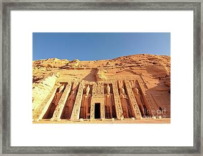 Temple Of Hathor/nefertari Framed Print by Theodore Liasi