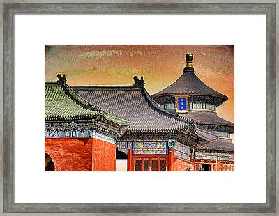 Temple Of Heaven Framed Print by Dennis Cox ChinaStock