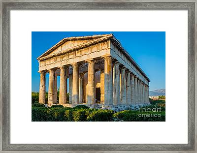 Temple Of Hephaestus Framed Print by Inge Johnsson