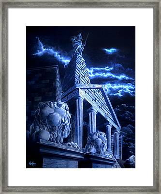 Temple Of Hercules In Kassel Framed Print