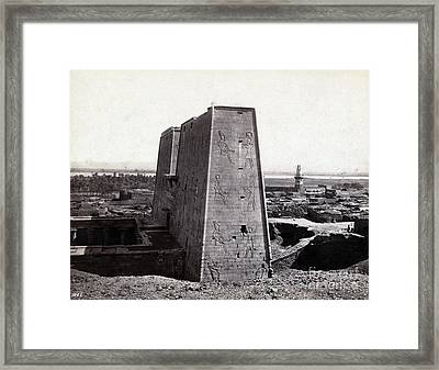 Temple Of Horus At Edfu, 1850s Framed Print by Science Source