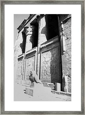 Framed Print featuring the photograph Temple Of Horus by Silvia Bruno
