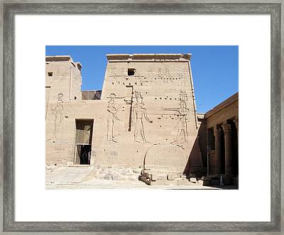 Temple Of Isis At Philae Framed Print