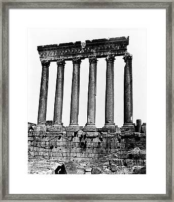 Temple Of Jupiter Colonnade, Baalbek Framed Print by Science Source