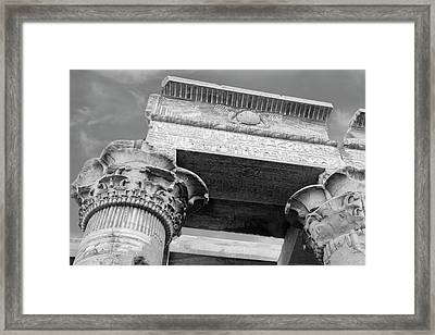 Framed Print featuring the  Temple Of Kom Ombo by Silvia Bruno