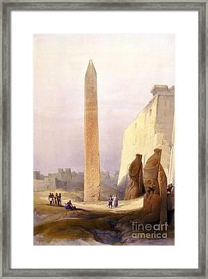 Temple Of Luxor, Grand Entrance, 1830s Framed Print
