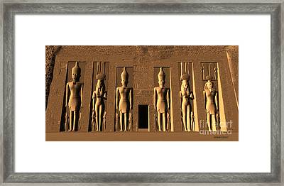 Temple Of Nefertari Framed Print