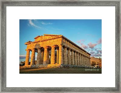 Temple Of Neptune Framed Print by Inge Johnsson