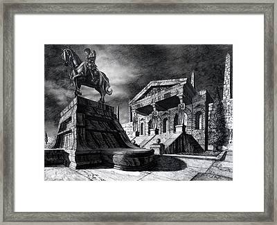 Temple Of Perseus Framed Print