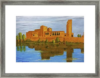 Temple Of Philae, The Ancient Sciene  Framed Print