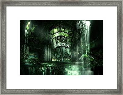 Temple Of  Saints. Framed Print by Cheri Stollings