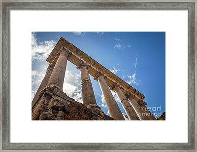 Temple Of Saturn Framed Print