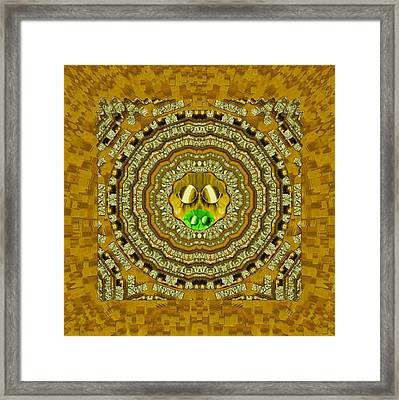 Temple Of Sunshine In The Northern Lights Framed Print by Pepita Selles