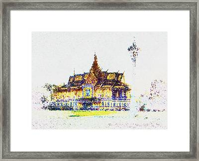 Temple Of The Buddha Framed Print by Mario Carini