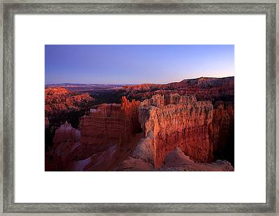 Temple Of The Setting Sun Framed Print