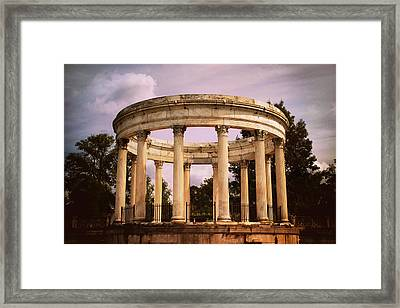 Temple Of The Sky Amphitheater Framed Print by Jessica Jenney