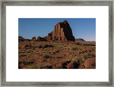 Temple Of The Sun Before Dawn Framed Print