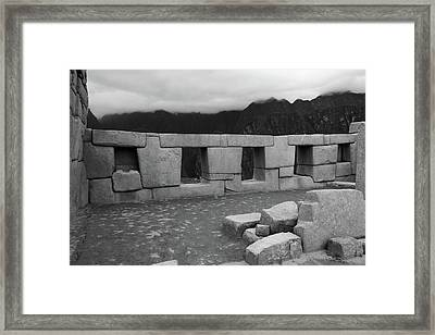 Framed Print featuring the photograph Temple Of The Three Windows by Aidan Moran