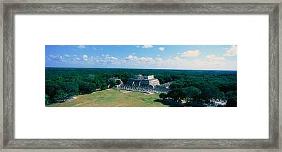 Temple Of The Warriors At Chichen-itza Framed Print by Panoramic Images