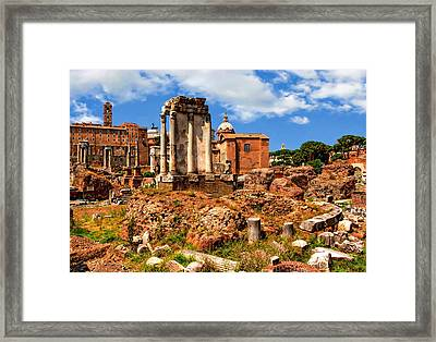 Temple Of Vesta Framed Print by Anthony Dezenzio