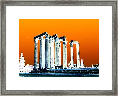 Temple Of Zeus Framed Print
