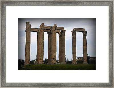 Temple Of Zeus Framed Print by Kevin Flynn