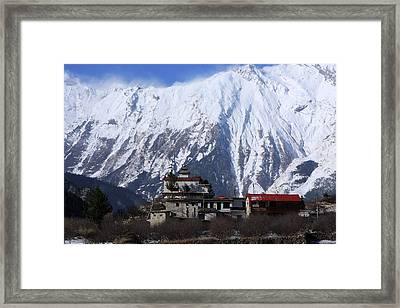 Temple On The Mountain Framed Print
