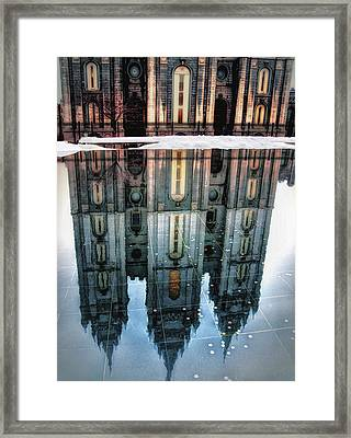 Temple Reflection Framed Print by Jim Hill