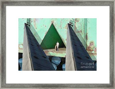 Temple Framed Print by Ron Bissett