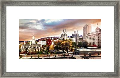 Temple Square #2 Framed Print by Brent Borup