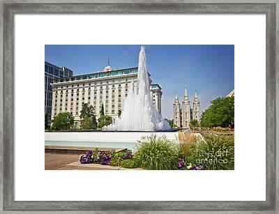 Temple Square Framed Print
