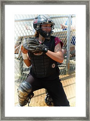 Temple University Bullpen Catcher Framed Print