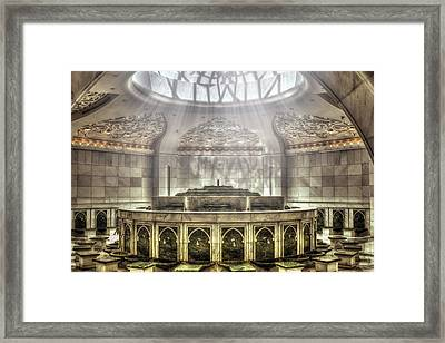 Temple Washroom Framed Print