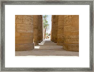 Framed Print featuring the photograph Temple Of Karnak by Silvia Bruno