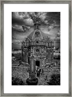 Templo Del Pocito - Mexico Bnw Hdr Framed Print