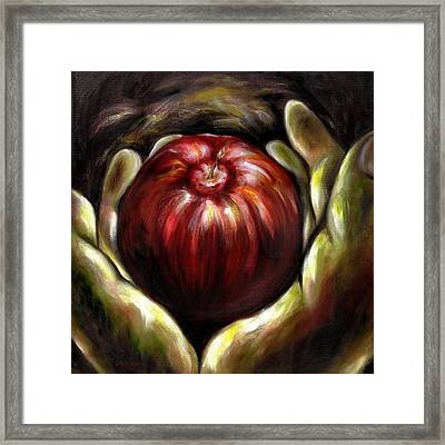 Temptation... Adams Dilemma Framed Print
