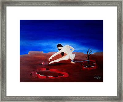 Temptation And Ancestral Fear Of Hell Framed Print