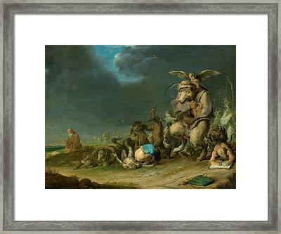 Temptation Of Saint Anthony Framed Print by Cornelis Saftleven