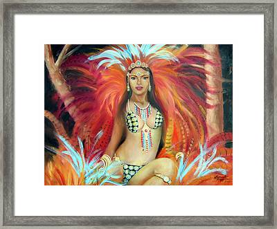 Temptress Framed Print by Leonardo Ruggieri