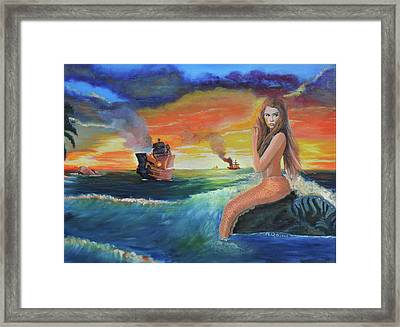 Temptress Framed Print by Marcel Quesnel