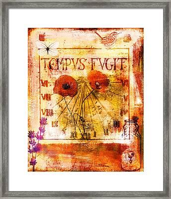 Tempus Fugit Framed Print by Jude Reid