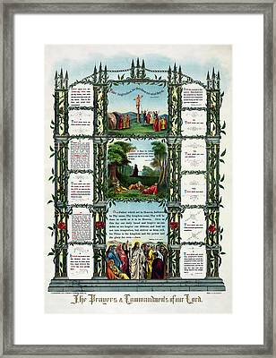 Ten Commandments Of Our Lord  1890 Framed Print by Daniel Hagerman