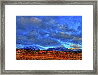 Framed Print featuring the photograph Ten Mile Of Fall Colors by Scott Mahon