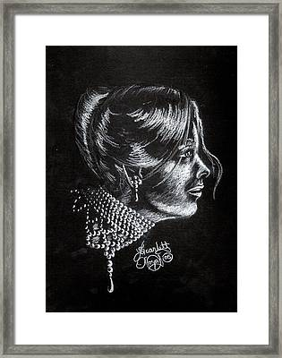 Ten Minute Sketch Framed Print by Scarlett Royal