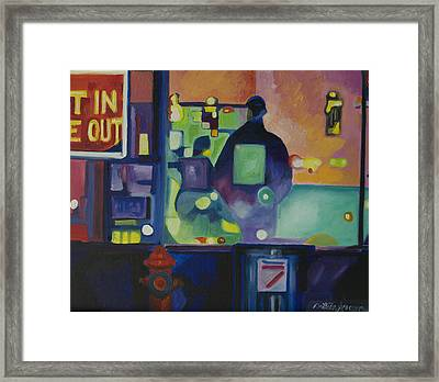Framed Print featuring the painting Ten Minutes by Patricia Arroyo