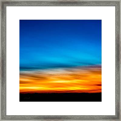 Ten Past Sunset Framed Print by Bob Orsillo
