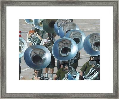 Ten Tubas Framed Print by David Clemons