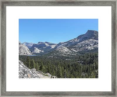 Tenaya Lake And Surrounding Mountains Yosemite National Park Framed Print