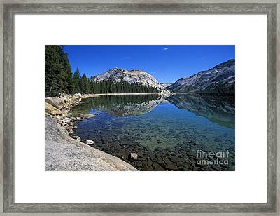 Tenaya Lake Framed Print by Stan and Anne Foster