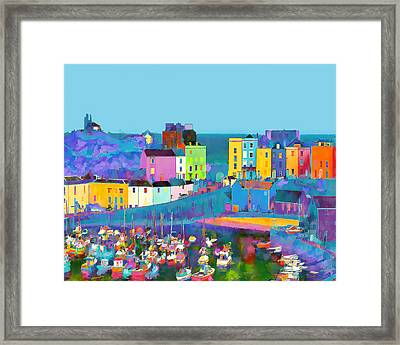 Tenby Harbour  I Framed Print by Gareth Davies